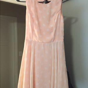 3/$25- San Souchi blush polka dot dress